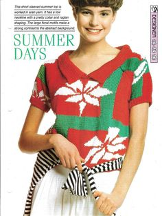Knitting pattern  Woman's  Summer Days by MyPatternsCollection