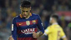 Neymar Jr, celebrando su gol contra el Sporting de Gijón