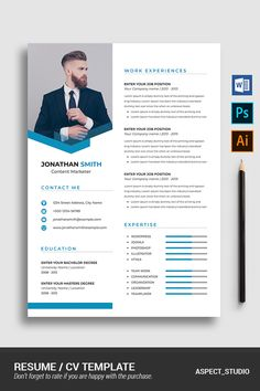 Jonathan Smith Resume Template - Resume Template Ideas of Resume Template - Jonathan Smith Resume Template Creative Cv Template, Modern Resume Template, Resume Design Template, Creative Resume, Resume Templates, Cv Simple, Cv Curriculum Vitae, Marketing Resume, Infographic Resume