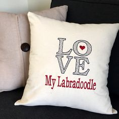 Customize your pillow with embroidery.