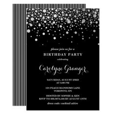 Customizable Invitation made by Zazzle Invitations. Sweet Sixteen Invitations, Elegant Invitations, Elegant Birthday Party, Birthday Fun, Birthday Gifts, Card Invitation, Invites, Shower Invitations, Silver Party Decorations