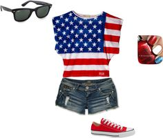 """FORTH OF JULY"" by mega-1 on Polyvore"