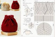 Handmade Kids Bags Knitting - Knittting Crochet Ananas Deckchen Kordelzugbeutel This image has get 0 Crochet Shell Stitch, Crochet Motif, Crochet Stitches, Free Crochet, Baby Knitting Patterns, Crochet Patterns, Kids Knitting, Handmade Kids Bags, Crochet Drawstring Bag