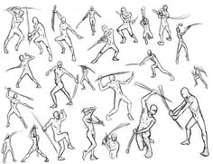 line drawing fighting with swords - Google Search