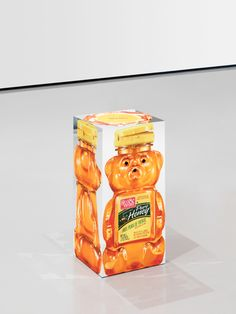 Urs Fischer ROTHENBERG / MCCLUSKY 2012 Silkscreen print on mirror-glass, UV-adhesive, aluminum, glass, polyacetal, screws 2 parts:  Honeybear: 20 7/8 x 9 3/8 x 8 1/2 inches (53 x 23.7 x 21.7 cm)  Lighter: 23 1/8 x 10 1/8 x 9 1/4 inches (58.6 x 25.8 x 23.4 cm)