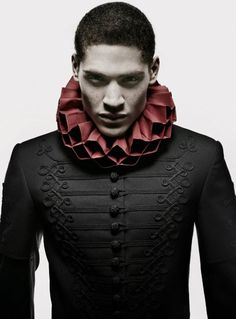 .I should think this look is known as Vampire Victorian! At any rate, the details/styling is very unique and original.
