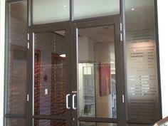 Entrance office, sandblasting