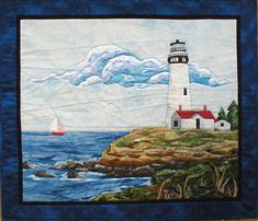 A classic lighthouse stands perched on the edge of a rocky coastline. Use the Picture Piecing technique to complete this intermediate difficulty pattern!