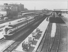 ACL F Units haul Passenger train out of Wilmington1947