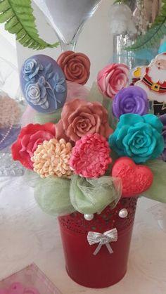 Beautiful soap bouquet