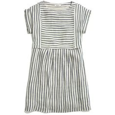 MADEWELL Blanca Dress in Stripe (€135) ❤ liked on Polyvore featuring dresses, vestidos, tops, casual dresses, twilight, oversized dress, pocket dress, kimono dress, madewell and white stripe dress
