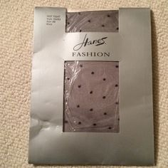 NWT Hanes Fashion Tights. Sheer black with dots NWT Hanes Fashion Tights. Sheer black with dots. Hanes Accessories Hosiery & Socks