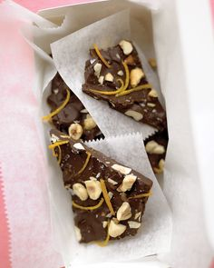 The slight bitterness of orange zest and a sprinkling of salt round out the richness of the chocolate and hazelnuts.