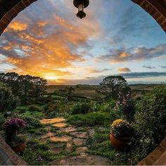 Sunrise at Hobbiton, New Zealand