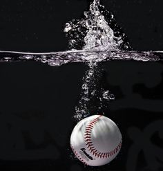 Baseball in water. This sums up all the exercise I ever get!