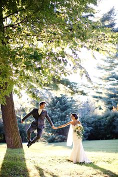 Groom jumping for joy! // Kay English
