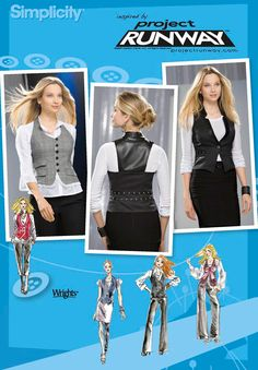 Simplicity 2556 Misses Vests with Separate Patterns for B,C,D Cups: Project Runway Collection Bustiers, Diy Clothing, Sewing Clothes, Clothes Patterns, Work Clothes, Dress Patterns, Steampunk, Do It Yourself Fashion, Doll Wardrobe