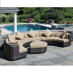 outdoor furniture - nice around an outdoor fireplace