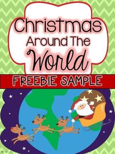 Christmas Around the World and a FREEBIE Second Grade Nest: Christmas Around the World and a FREEBIE<br> Teaching this unit last year was one of my favorite things to do! It was the first time I had taught Christmas Around the World and it w. Around The World Theme, Celebration Around The World, Holidays Around The World, Around The Worlds, Christmas Writing, Preschool Christmas, Kids Christmas, Christmas Facts, Xmas