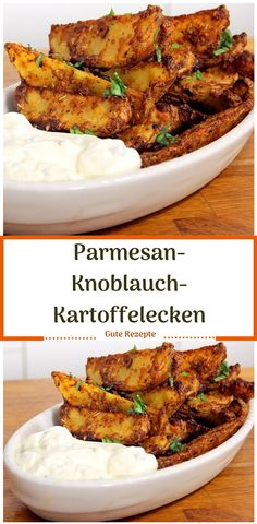 Parmesan-Knoblauch-Kartoffelecken - Kartoffelgerichte - You are in the right place about rezepte abendessen Here we offer you the most beautiful pictures - Chicken Parmesan Recipes, Healthy Chicken Recipes, Easy Healthy Recipes, Quick Easy Meals, Healthy Dinner Recipes, Soup Recipes, Vegetarian Recipes, Garlic Parmesan, Garlic Recipes