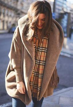 Abrigo suelto solapa manga larga-kaki