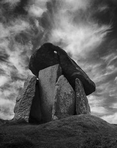 Trethevy Quiot, Cornwall, England - known locally as the giant's house, it is a megalithic tomb consisting of five standing stones capped by a large slab.