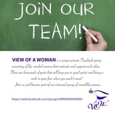 VIEW OF A WOMAN is a unique private group that aspires to motivate, support & empower women worldwide. (women + only) Private Facebook, Join Our Team, Good Spirits, Women Empowerment, Mindfulness, Passion, Group, Motivation, Woman