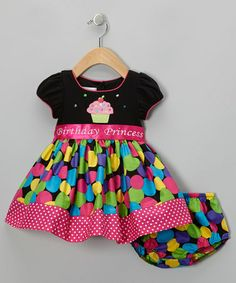 Take a look at this Black & Pink 'Birthday' Dress & Diaper Cover - Infant & Toddler by Gerson & Gerson on #zulily today!