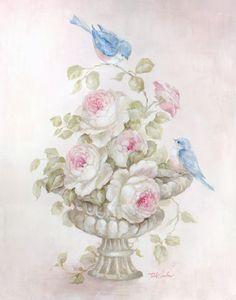 Sweet Rose Song - Debi Coules Romantic Art