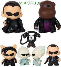 Bonecos MUNNY Toy Art da Trilogia The Matrix