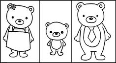 free Goldilocks and the Three Bears printable activity packet Bear Activities Preschool, Toddler Preschool, Bear Template, Fairy Tales Unit, Fairy Tale Theme, Traditional Tales, Goldilocks And The Three Bears, Bear Coloring Pages, Bear Crafts