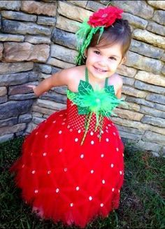 Strawberry Halloween Costume Tutu Dress Order Now Through September by BlissyCouture on Etsy Costumes Avec Tutu, Cute Costumes, Baby Costumes, Costume Halloween, Halloween Kids, Halloween Party, Best Toddler Halloween Costumes, Halloween Door, Strawberry Halloween