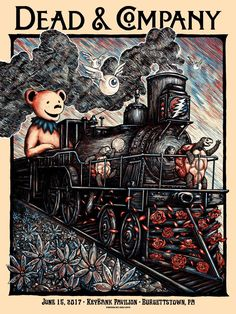 Dead & Company Burgettstown Poster By Zeb Love Release Details Grateful Dead Wallpaper, Dead And Company, Concert Posters, Music Posters, Tour Posters, Popular Tattoos, Tattoos With Meaning, Album Covers, Cover Art