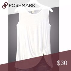 Twisted Tee for Dress Up or Play Simple but sizzling! I have two of these. They're sold out completely. I have a size M (10) and a size L (12). These run big. These are the last two I could get! Tops Tank Tops