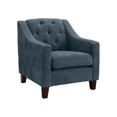 The Threshold, Felton Tufted Chair brings a modern vibe to your space with its clean lines and a sweeping silhouette. Place this upholstered accent chair in your living room next to a reading light to put together a perfect little reading nook. Pair it with the matching loveseat for a chic coordinated look.