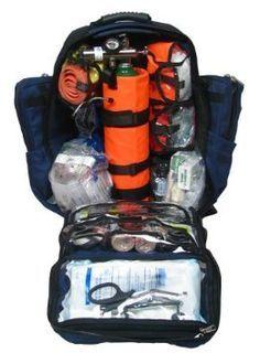 Dixie Ems Ultimate Pro Trauma O2 First Responder Medic Oxygen Backpack Denier Cordura Gear Bag
