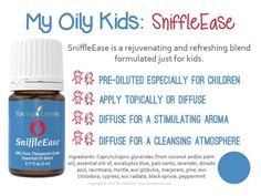 Essential oils for kids - Young Living Kids Scents Sniffle Ease - Asthma Treatment Essential Oils For Babies, Yl Essential Oils, Young Living Essential Oils, Essential Oil Blends, Young Living Kids, Eucalyptus Radiata, Ravintsara, Yl Oils, Doterra Oils