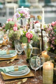 Spring  Glittered Gold Table