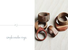 DIY Wooden Rings  @Matty Chuah Merrythought