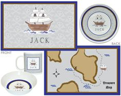 Ahoy Matey 4-Piece Dinnerware Set