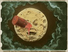 """""""A Voyage to the Moon"""" made by Georges Méliès in 1902. It is one of the first films ever made."""