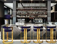 WINFREY bar chair ambiente velvet brass Ottiu Furniture