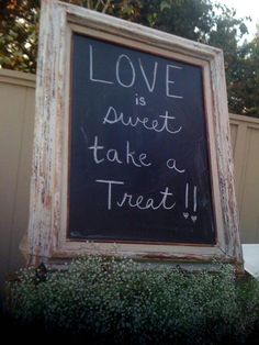 Sign for sweet bar