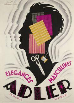 Adler, élégances masculines Noel FONTANET – 1930 circa