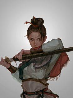 Digital Art Girl Warrior Swords Ideas For 2019 Arte Digital Fantasy, Fantasy Art, High Fantasy, Digital Art, Fantasy Inspiration, Character Design Inspiration, Character Drawing, Character Concept, Simple Character