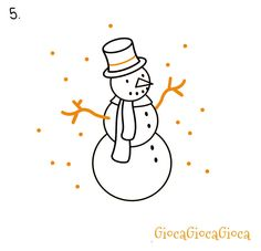 How to draw the snowman on www.giocagiocagioca.com