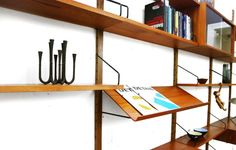 """Wall Unit """"Royal System"""" for Cado designed by Poul Cadovius 1958"""