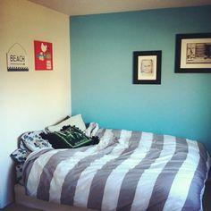 Tay's new wall color: Behr Riverside Blue Duvet: Target Blue Rooms, Blue Walls, Blue Duvet, Behr, Bedroom Ideas, Blues, Target, Decor Ideas, Paint