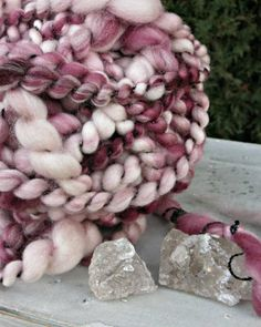 OOAK Handspun Yarn  Superwash Merino Wool Art Yarn  Thick