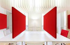 Stereo Schiebebildschirme<br> Großraumbüro, MIO Offices, Montpellier.Architekt: Sophie Petit Ferrier.<br>Foto: MC Lucat.